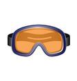 ski sport goggles in dark blue design vector image vector image