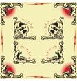 Skull Frames vector image vector image