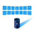 smart speaker assistant for smart home control vector image vector image