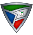 steel shield with flag equatorial guinea vector image vector image