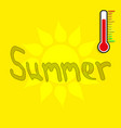 summer background thermometer vector image vector image
