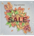 Texture autumn theme with isolated elements vector image vector image