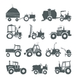 Tractors icon set vector image