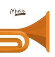 trumpet instrument isolated icon design vector image vector image