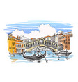 venice hand drawn vector image