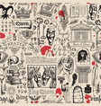 vintage seamless pattern on theme theatre vector image
