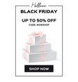 web banner black friday sale up to 50 percent vector image