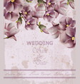 wedding invitation pink card spring floral vector image vector image
