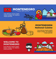 welcome to montenegro posters with national vector image vector image