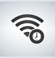 wifi connection signal icon with clock or time in vector image vector image