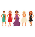 women in evening dresses vector image
