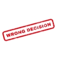 Wrong Decision Rubber Stamp vector image vector image