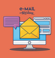 email advertising design vector image
