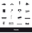 train and railway icons eps10 vector image