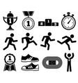 running sport outdoor jogging people marathon vector image