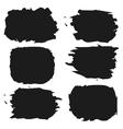 Set of grunge shapes frames EPS 10 vector image