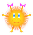 sun icon on white vector image