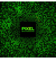 Abstract Pixel Green Bright Glow Background vector image vector image