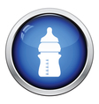 Baby bottle icon vector image vector image