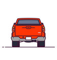 back view pick-up vector image vector image