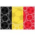 belgium soccer balls vector image vector image