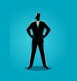 businessman standing with both hand around waist vector image vector image