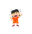 cartoon character of a angry asian girl vector image vector image