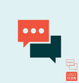 chat message icon - speech bubble symbol vector image