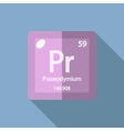 Chemical element Praseodymium Flat vector image vector image