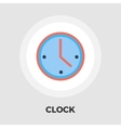 Clock flat icon vector image