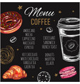 coffee and bakery restaurant menu brochure vector image vector image