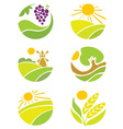 collection of logos - agriculture vector image