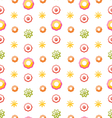 Colorful Shiny Seamless Pattern with Flowers vector image vector image