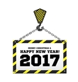 Congratulations to the New Year on the background vector image vector image
