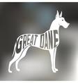 creative design frat dane breed inside dog vector image