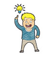 digitally drawn people find ideas design hand vector image