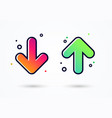 down and up arrow icon - user experience feedback vector image
