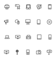 Electronics Stroke Icons 1 vector image