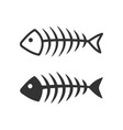 fish bone icons filled and lined style vector image