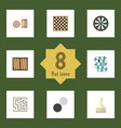 flat icon play set of multiplayer dice chess vector image vector image