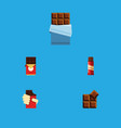 flat icon sweet set of shaped box cocoa bitter vector image vector image