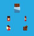 Flat icon sweet set of shaped box cocoa bitter