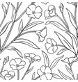 flax plant pattern on white background vector image vector image