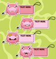 Four cute cartoon Hippos stickers vector image