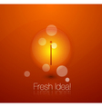fresh idea vector image vector image