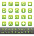 green icons vector image vector image
