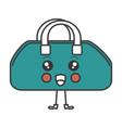 gym bag kawaii character vector image vector image