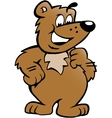 hand-drawn an happy proud brown bear vector image