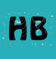 happy birthday black letters with pearl collars vector image vector image