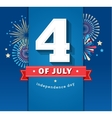happy independence day america 4 th july vector image